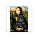 Mona's Black Shar Pei Square Sticker 3