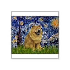 "Starry / Chow #! Square Sticker 3"" x 3"""