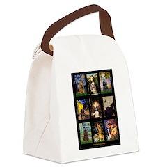 Cocker Spaniel Famous Art Comp Canvas Lunch Bag