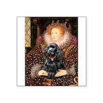 Queen / Cocker Spaniel (blk) Square Sticker 3