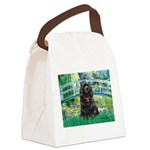 Bridge / Black Cocker Spaniel Canvas Lunch Bag