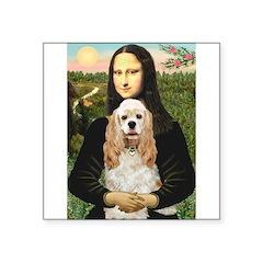 Mona Lisa / Cocker Spaniel Square Sticker 3