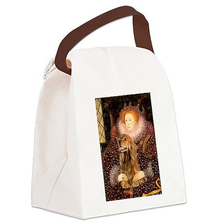 Queen / Cocker Spaniel (br) Canvas Lunch Bag