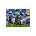 Starry Night / Black Cocke Square Sticker 3