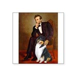 LINCOLN-Collie-Tri3.png Square Sticker 3