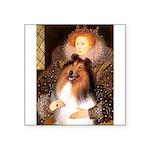 Queen / Collie (tri) Square Sticker 3
