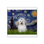 Starry Night Coton de Tulear Square Sticker 3