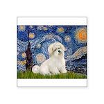 Starry / Coton de Tulear (#7) Square Sticker 3