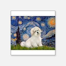 """Starry / Coton de Tulear (#7) Square Sticker 3"""" x"""