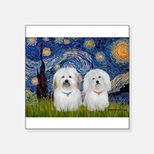 "Starry / Coton Pair Square Sticker 3"" x 3"""