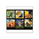 Dachshund Famous Art 1 Square Sticker 3