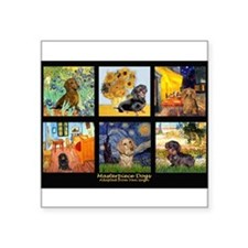 "Dachshund Famous Art 1 Square Sticker 3"" x 3"""