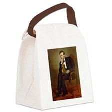 Lincoln's Dachshund Canvas Lunch Bag
