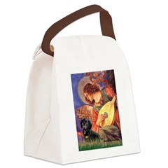 Mandolin Angel & Doxie (BT) Canvas Lunch Bag