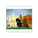 Sailboats / Dachshund Square Sticker 3