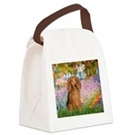 Garden -Dachshund (LH-Sable) Canvas Lunch Bag