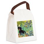Irises & Dachshund (BT4) Canvas Lunch Bag