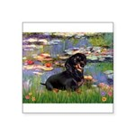 Lilies (2) & Dachshund Square Sticker 3