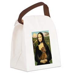 Mona's Dachshund Canvas Lunch Bag