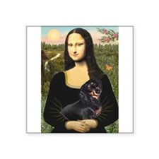 """Mona's Dachshund Square Sticker 3"""" x 3"""""""