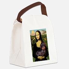Mona / Dachshund (wire) Canvas Lunch Bag