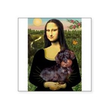 "Mona / Dachshund (wire) Square Sticker 3"" x 3"""