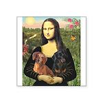 Mona Lisa's Dachshunds Square Sticker 3