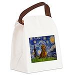 Starry / Dachshund Canvas Lunch Bag