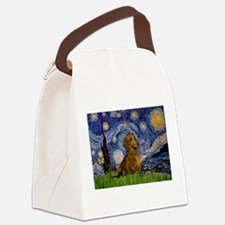 Starry / Dachshund Canvas Lunch Bag
