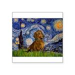 Starry / Dachshund Square Sticker 3
