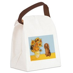 Sunflowers - Doxie (LH,S) Canvas Lunch Bag