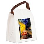 Cafe & Dachshund Canvas Lunch Bag