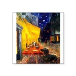 Cafe & Dachshund Square Sticker 3