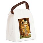 Kiss / Dachshund Canvas Lunch Bag