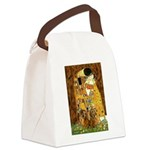 The Kiss/Two Dachshunds Canvas Lunch Bag