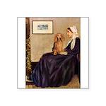 Whistler's /Dachshund(LH-Sabl) Square Sticker 3