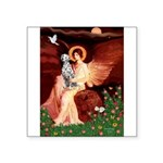 Angel / Dalmatian #1 Square Sticker 3