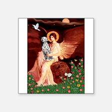 "Angel / Dalmatian #1 Square Sticker 3"" x 3"""