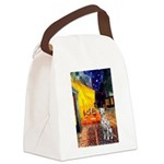 Cafe / Dalmatian #1 Canvas Lunch Bag