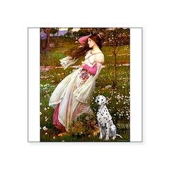 Windflowers / Dalmatian #1 Square Sticker 3