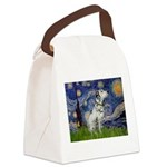 Starry Night / Dalmation Canvas Lunch Bag