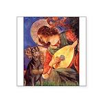 Mandolin Angel & Dobie Square Sticker 3
