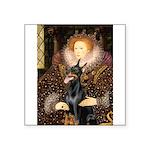 The Queen's Dobie Square Sticker 3