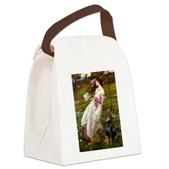 Windflowers / Doberman Canvas Lunch Bag