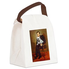Lincoln's English Bulldog Canvas Lunch Bag