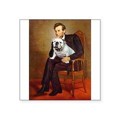 Lincoln's English Bulldog Square Sticker 3