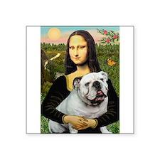 """Mona's English Bulldog Square Sticker 3"""" x 3"""""""