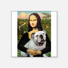 "Mona's English Bulldog Square Sticker 3"" x 3"""