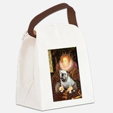 The Queen's English BUlldog Canvas Lunch Bag