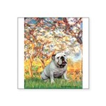 Spring/ English Bulldog (#9) Square Sticker 3